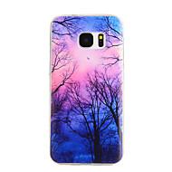 Varten Samsung Galaxy S7 Edge Kuvio Etui Takakuori Etui Puu TPU Samsung S7 edge / S7 / S6 edge / S6