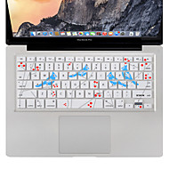 billige -xskn synge fugl tastaturet dekselet silikonbeskytter for MacBook Air / pro 13 15 17 tommer, oss layout