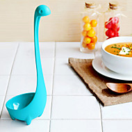 Creative Kitchen PP Nessie Style Ladle – Light Blue Cookware Decoration