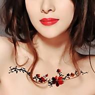 1 - 22*15cm - Πολύχρωμο - Plum Flower Vine - BR - Σειρά Κοσμημάτων / Σειρά Λουλουδιών / Σειρά Τοτέμ / Άλλα - Αυτοκόλλητα Τατουάζ -Non