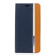 お買い得  携帯電話ケース-ケース 用途 Alcatel Alcatelケース カードホルダー スタンド付き フリップ フルボディーケース 純色 ハード PUレザー のために