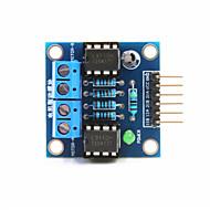 お買い得  Arduino 用アクセサリー-アルドゥイーノ+ラズベリーパイのための2ウェイDCモータドライブモジュール - ブルー
