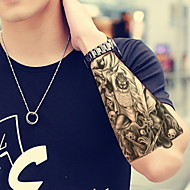 1 - 22*15cm - Πολύχρωμο - Zhong Kui - BR - Σειρά Κοσμημάτων / Σειρά Λουλουδιών / Σειρά Τοτέμ / Άλλα - Αυτοκόλλητα Τατουάζ -Non Toxic /