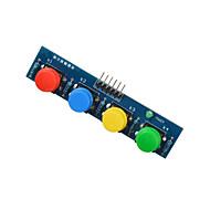 お買い得  Arduino 用アクセサリー-青PI-arduinoの+ラズベリーのための4キーボタンモジュールセンサー外付けキーボードモジュール