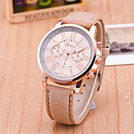voordelige Modieuze horloges-Dames Modieus horloge Kwarts Leer Band Zwart Wit Blauw Rood Orange Groen Roze Geel roze