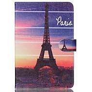 Для Кейс для  Samsung Galaxy Кошелек / Бумажник для карт / со стендом / Флип / С узором Кейс для Чехол Кейс для Эйфелева башня
