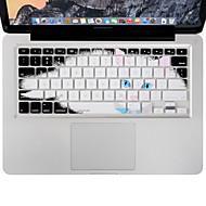 halpa -xskn kestävä ultraohut näppäimistö kattaa silikoni iho laiska kissa MacBook Air / Pro 13 15 17 tuumaa, meidän layout