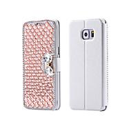 Luksusowa Bling kryształu& diamond pu skórzane etui z klapką torba do Samsung Galaxy S3 / S4 / S5 / S6 / s6e / S7 / s6e Plus