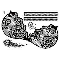 Tearbeauty-Черный-Прочее-Временные краски- дляЖенский / Взрослый-1-34cm*23cm-Кружева-Бумага-006