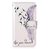 Назначение iPhone 8 iPhone 8 Plus Кейс для iPhone 5 Чехлы панели Кошелек Бумажник для карт со стендом Флип С узором Чехол Кейс для  Перья