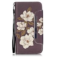 Mert Samsung Galaxy tok Kártyatartó / Pénztárca / Állvánnyal / Flip Case Teljes védelem Case Virág Műbőr SamsungGrand Prime / Grand Neo+