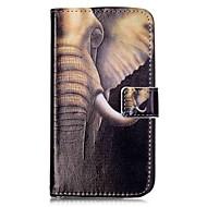 お買い得  携帯電話ケース-ケース 用途 LG K8 LG LG K10 LG K7 LG G5 カードホルダー ウォレット スタンド付き フリップ 磁石バックル パターン フルボディーケース 象 ハード PUレザー のために LG V10