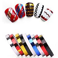 abordables Adhesivos para Uñas-Dedo / Dedo del Pie / Otros-Abstracto / Punk / Boda-Brillante-Plástico-1-0.5- (cm)