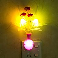precioso jarrón de color cambiante inteligente controlado por la luz de luz de emergencia llevado la noche para la decoración de su casa