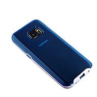 Недорогие Чехлы и кейсы для Galaxy S-Кейс для Назначение SSamsung Galaxy Samsung Galaxy S7 Edge Прозрачный Кейс на заднюю панель Сплошной цвет ПК для S7 edge S7