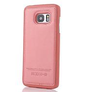For Samsung Galaxy S7 Edge Præget Etui Bagcover Etui Helfarve Kunstlæder for Samsung S7 edge S7 S6 edge plus S6 edge S6 S5 S