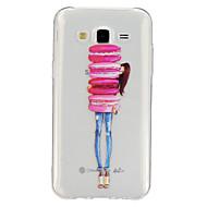 Для Кейс для  Samsung Galaxy Прозрачный / С узором Кейс для Задняя крышка Кейс для Мультяшная тематика TPU Samsung J5