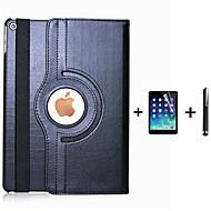 billige -Etui Til iPad 4/3/2 med stativ Autodvale / aktivasjon Origami 360° rotasjon Heldekkende etui Helfarge PU Leather til iPad 4/3/2 iPad 9.7