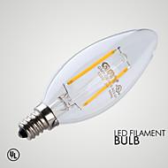 abordables Luces LED en Vela-≥200 lm E12 Luces LED en Vela B 2 leds COB Regulable Decorativa Blanco Cálido AC 110-130V