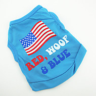 halpa -Koira T-paita Liivi Koiran vaatteet Purppura Vihreä Sininen Pinkki Teryleeni Asu Lemmikit Miesten Naisten Muoti