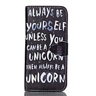 Для Samsung Galaxy S7 Edge Кошелек / Бумажник для карт / со стендом / Флип Кейс для Чехол Кейс для Слова / выражения Искусственная кожа
