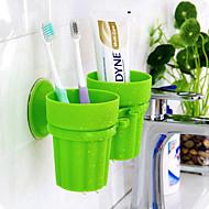 Tandbørstekrus Toilet / Badekar / Bruser Plastik Multi-funktion / Rejse / Opbevaring
