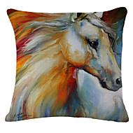 maalaus hevonen kuvio liinavaatteet tyynyliina sohva kodin sisustus tyyny kansi