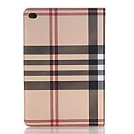 olcso iPad tokok-hq ultravékony luxus rács bőr tok iPad mini 4 Smart Cover Apple iPad mini4 7,9 hüvelykes táblagép