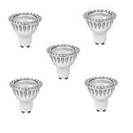 3W GU10 LED szpotlámpák MR16 1 led COB Tompítható Meleg fehér Hideg fehér 280-350lm 3000K AC 220-240V