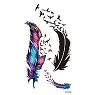 Outros-RC-Tatuagem Adesiva-Waterproof- paraFeminino / Masculino / Adulto- dePVC-Multicolorido-10.5*6cm-feather- com1pcs
