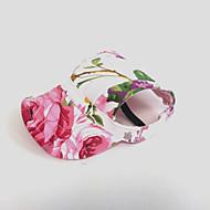 Недорогие Бижутерия и аксессуары для собак-Кошка Собака Платки и шапочки Одежда для собак Цветы Розовый Нейлон Костюм Для домашних животных Жен. Праздник