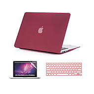 "3 in 1 drijfzand matte full body tas met toetsenbord hoes en screen protector voor MacBook Air 11 ""/ 13"""