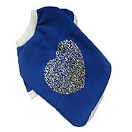 Hunde T-shirt Blau Hundekleidung Winter Herzen