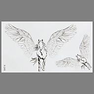 татуировки моды летать лошади водонепроницаемый наклейки татуировки