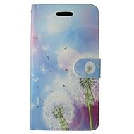Для Кейс для Huawei / P9 / P8 / P8 Lite Кошелек / Бумажник для карт / со стендом Кейс для Чехол Кейс для Одуванчик ТвердыйИскусственная