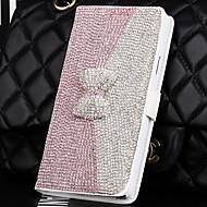 Для Кейс для  Samsung Galaxy Кошелек / Бумажник для карт / Стразы / со стендом / Флип Кейс для Чехол Кейс для 3D в мультяшном стиле