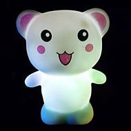 creativa oso feliz colorido de cambio de color llevado lámpara de noche