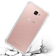 Недорогие Чехлы и кейсы для Galaxy A8-Кейс для Назначение SSamsung Galaxy Кейс для  Samsung Galaxy Защита от удара Прозрачный Кейс на заднюю панель Сплошной цвет ТПУ для