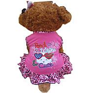 Hunde Kleider Rose Hundekleidung Sommer Tier / Herzen