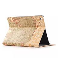 Χαμηλού Κόστους Θήκες/Καλύμματα για iPad-ρετρό στυλ χάρτη εκτυπώσεις pu δέρμα αναστροφή υπόθεση tablet σκληρό εξώφυλλο για τον αέρα μήλο ipad έξυπνη στάση προστατευτική θήκη