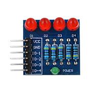 お買い得  Arduino 用アクセサリー-4Pモジュール赤色光を調光ダイオードPWMを主導 -  arduinoの科学的研究に適した赤+青+多色を
