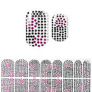 abordables Adhesivos para Uñas-preciosas corea negro del diamante bricolaje pegatinas 3d uñas