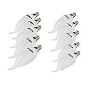 E14 Luzes de LED em Vela 8 leds SMD 2835 Decorativa Branco Quente Branco Frio 200lm 3000/6000K AC 220-240V