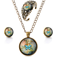 cheap Floral Jewelry-Women's Hollow Out Jewelry Set - Flower, Butterfly, Animal Simple Style, Carved Include Brown For Party Daily Casual / Earrings / Necklace / Bracelets & Bangles