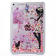 billige Etuier og covers til iPad-Etui Til iPad Mini 4 Transparent Mønster Bagcover Glitterskin PC for iPad Mini 4