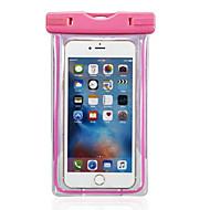 お買い得  携帯電話ケース-ケース 用途 iPhone 6s Plus / iPhone 6 Plus / iPhone 6s 防水 / ウィンドウ付き ポーチ ソリッド ソフト PC のために