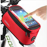 저렴한 -ROSWHEEL 자전거 핸들바 백 자전거 프레임 백 휴대 전화 가방 106.67999999999999 인치 방수 비 방지 방수 지퍼 먼지 방지 충격방지 다기능 터치 스크린 전화/Iphone 싸이클링 용 iphone 4/18S iPhone 5/5S