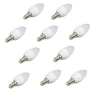 10pcs 2W E14 LED Candle Lights Rotatable LED 250lm Warm White Cold White Decorative AC220-240V