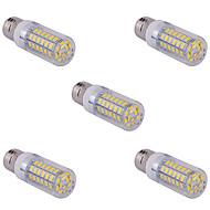 お買い得  LED コーン型電球-5個E14 / G9 / E26 / E27 15 60ワットSMD 5730 1500 LMウォームホワイト/クールホワイトコーン電球AC 110/220 V