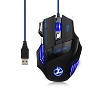 お買い得  マウス-ケーブル ゲーミングマウス 調整可能DPI バックライト プログラマブル 5500